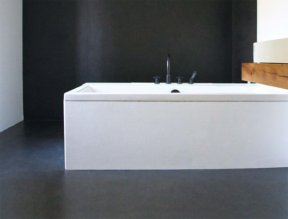 Badezimmer mit Microzement